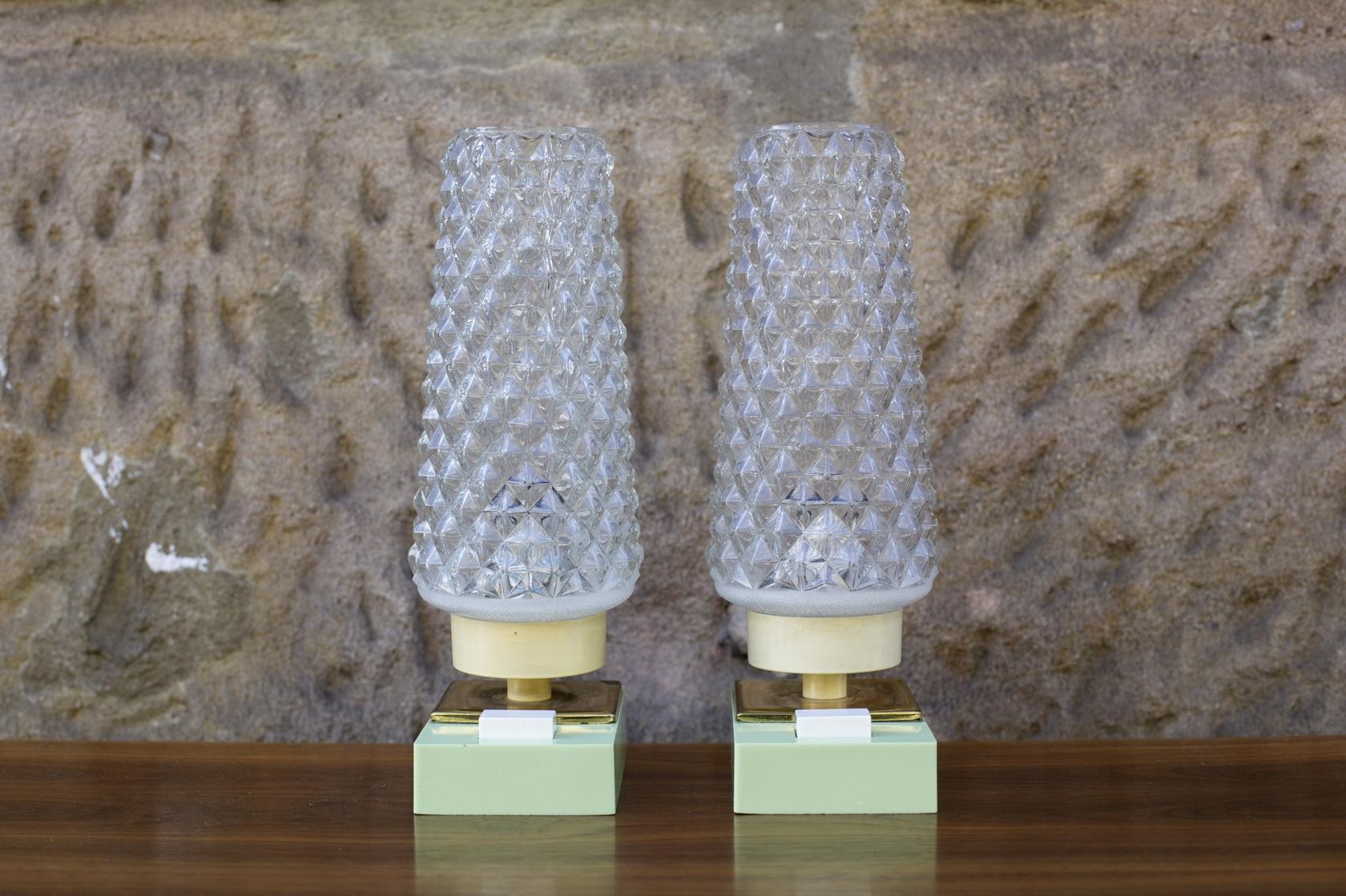 zwei 50ies nachttischlampen raumwunder vintage wohnen in n rnberg. Black Bedroom Furniture Sets. Home Design Ideas