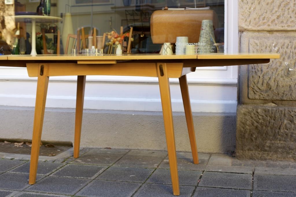 Ausziehbarer esstisch 50er jahre raumwunder vintage for Vintage tisch ausziehbar