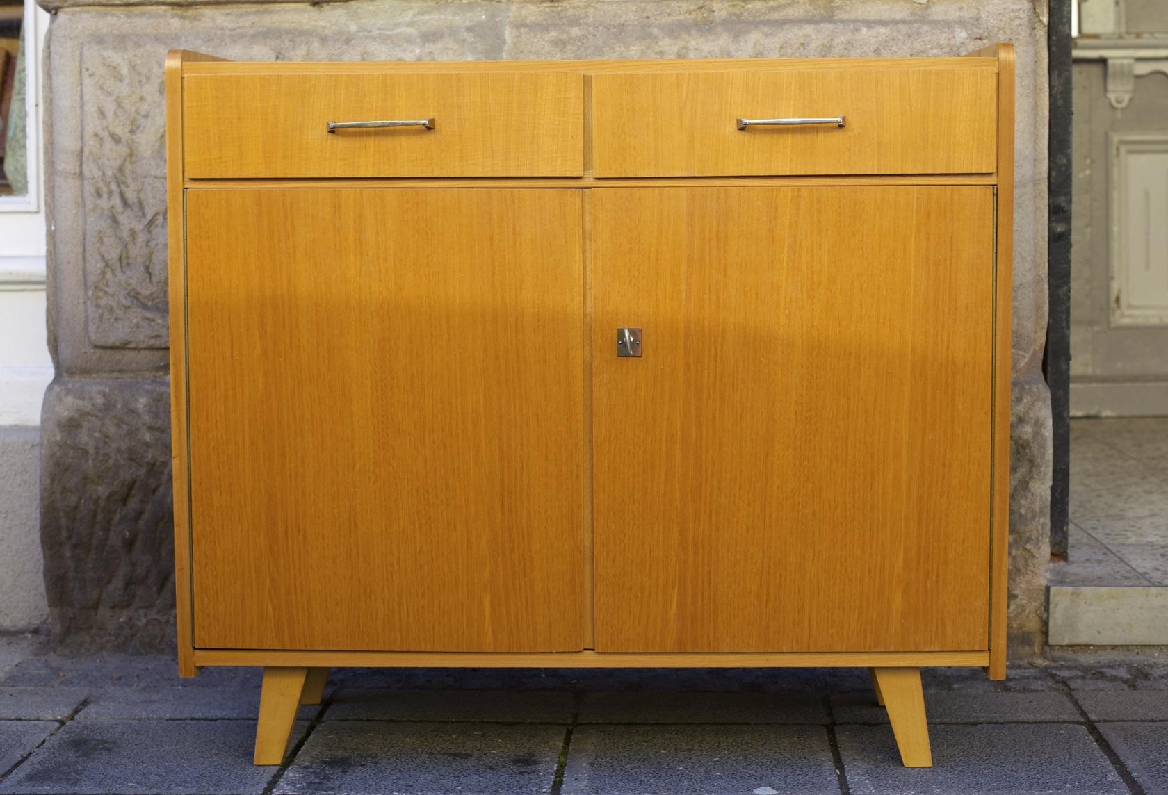 50er jahre sideboards mit eckregal raumwunder vintage. Black Bedroom Furniture Sets. Home Design Ideas