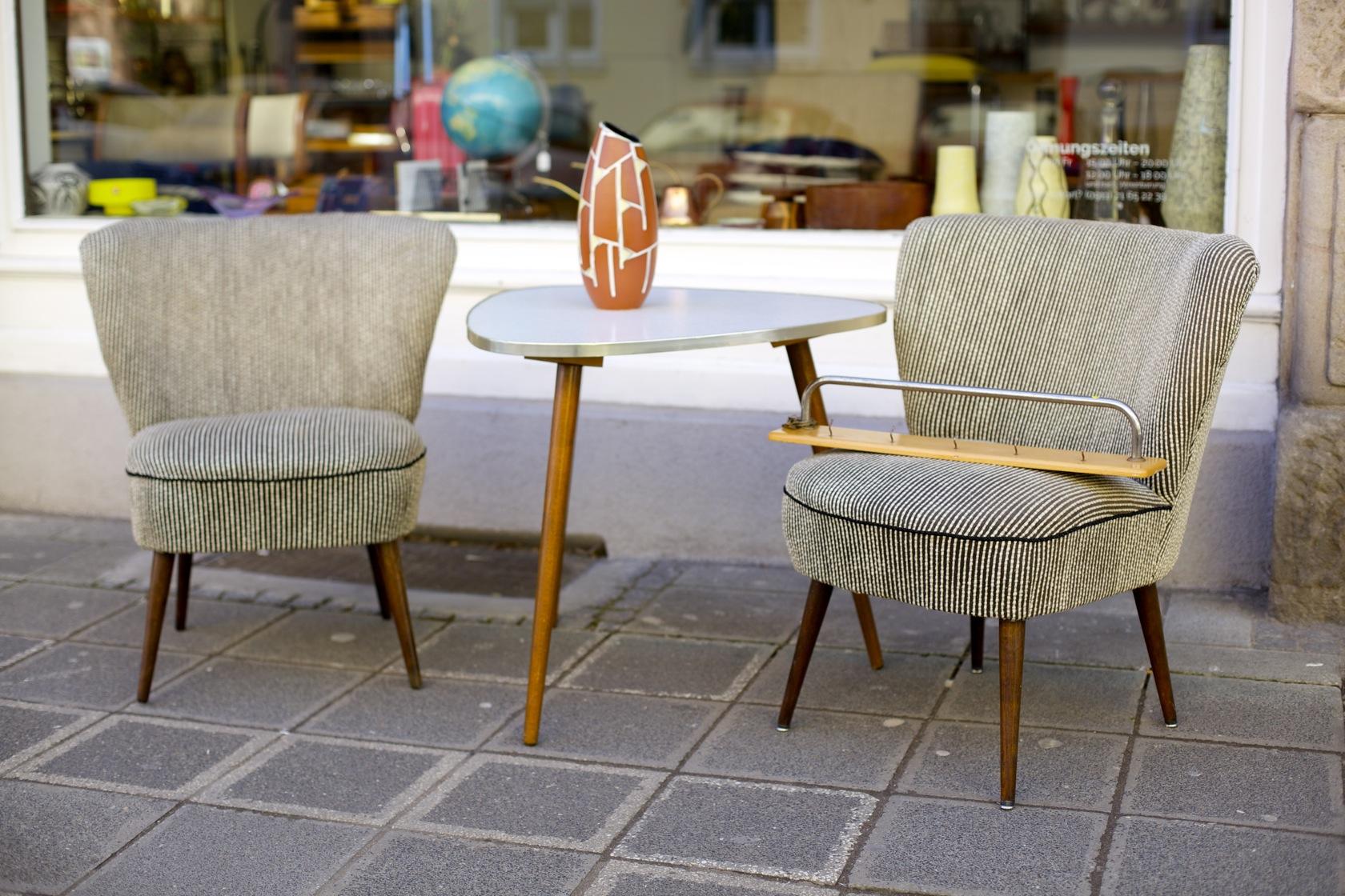 zwei cocktailsessel 50er jahre raumwunder vintage. Black Bedroom Furniture Sets. Home Design Ideas