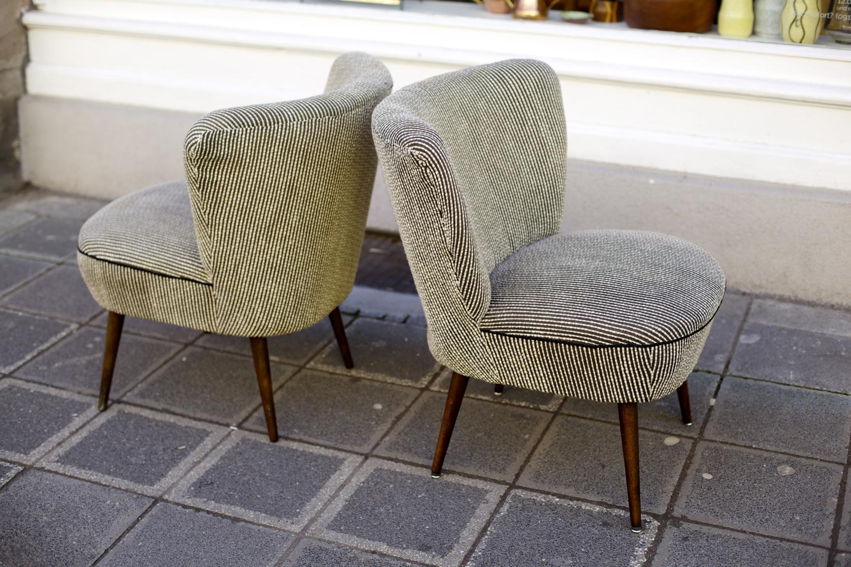 zwei cocktailsessel 50er jahre raumwunder vintage wohnen in n rnberg. Black Bedroom Furniture Sets. Home Design Ideas