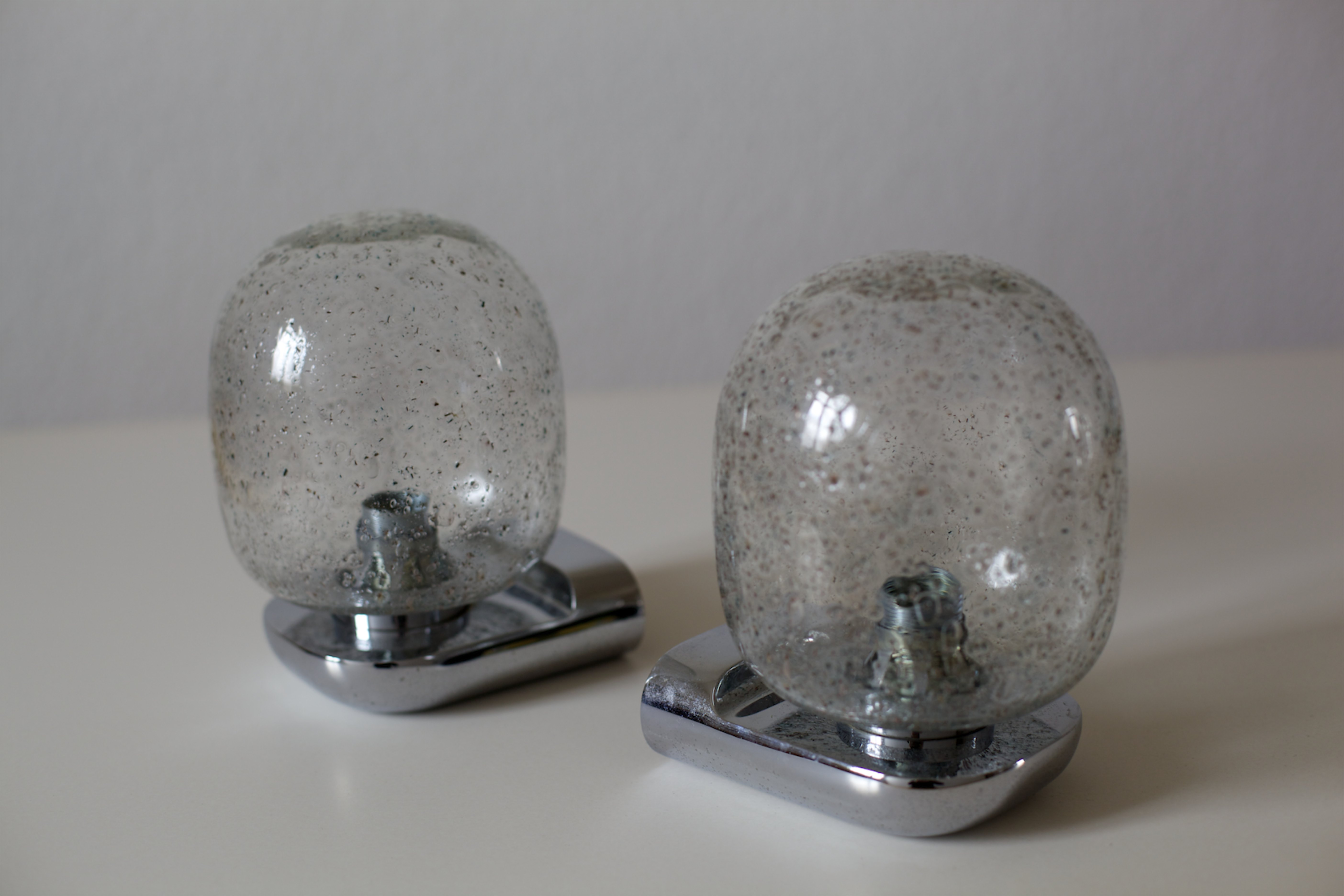 zwei space age badezimmerlampen raumwunder vintage wohnen in n rnberg. Black Bedroom Furniture Sets. Home Design Ideas