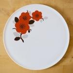 Platte rote Blumen