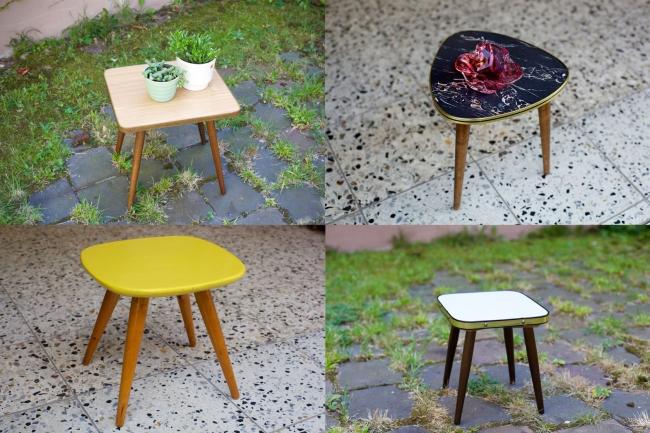 verschiedene blumentischchen aus den 50ern raumwunder vintage wohnen in n rnberg. Black Bedroom Furniture Sets. Home Design Ideas
