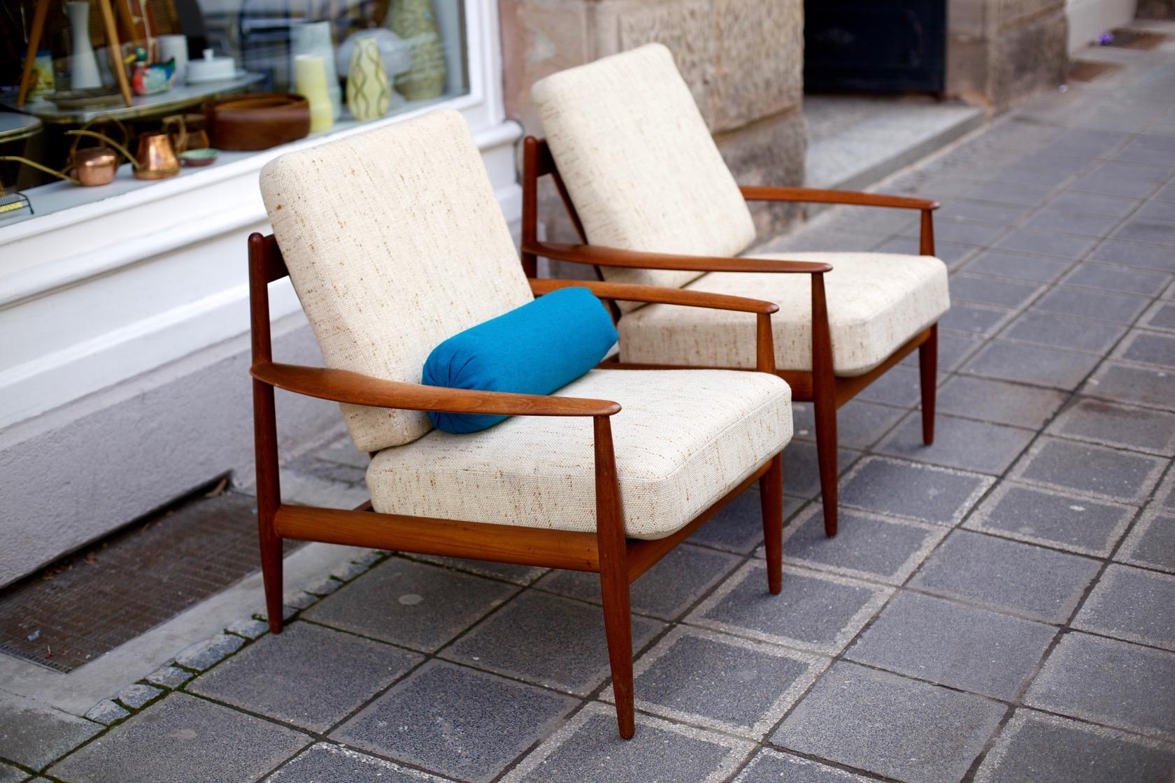 Danische Designklassiker Zwei Sessel Von Grete Jalk