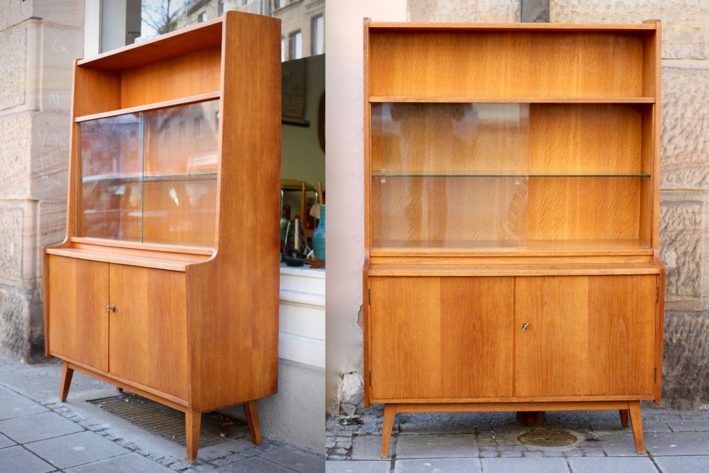 highboard regal vitrine aus den 50er jahren raumwunder vintage wohnen in n rnberg. Black Bedroom Furniture Sets. Home Design Ideas