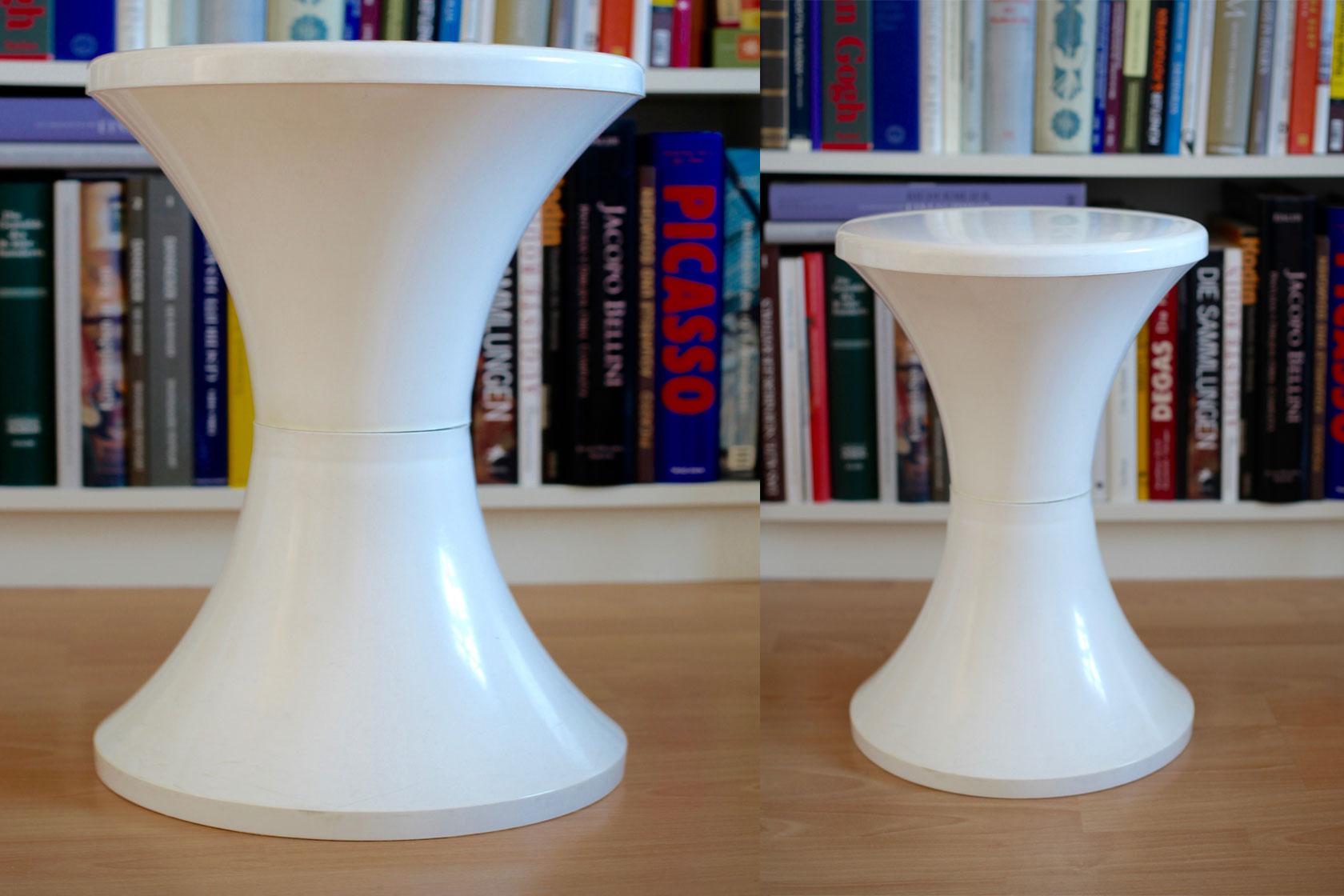 kunststoffhocker aus den 60er jahren raumwunder vintage wohnen in n rnberg. Black Bedroom Furniture Sets. Home Design Ideas