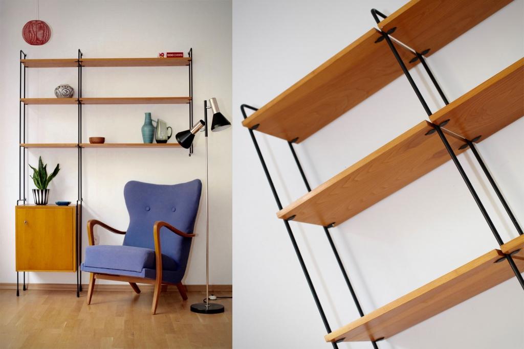 regalsystem omnia von hilker aus den 60er jahren. Black Bedroom Furniture Sets. Home Design Ideas