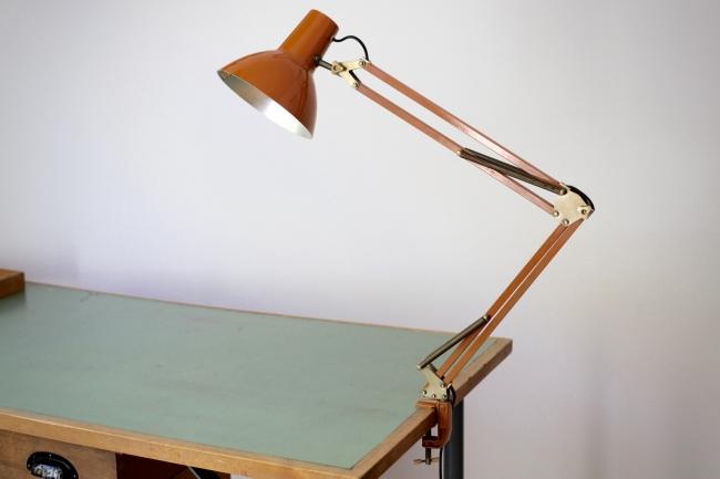 gelenklampe aus den 70er jahren raumwunder vintage wohnen in n rnberg. Black Bedroom Furniture Sets. Home Design Ideas