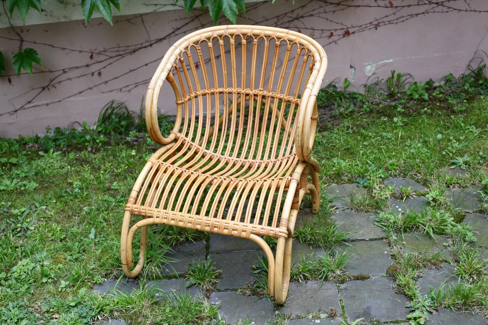 Rattansessel aus den 50er jahren raumwunder vintage for Sessel aus den 50er jahren
