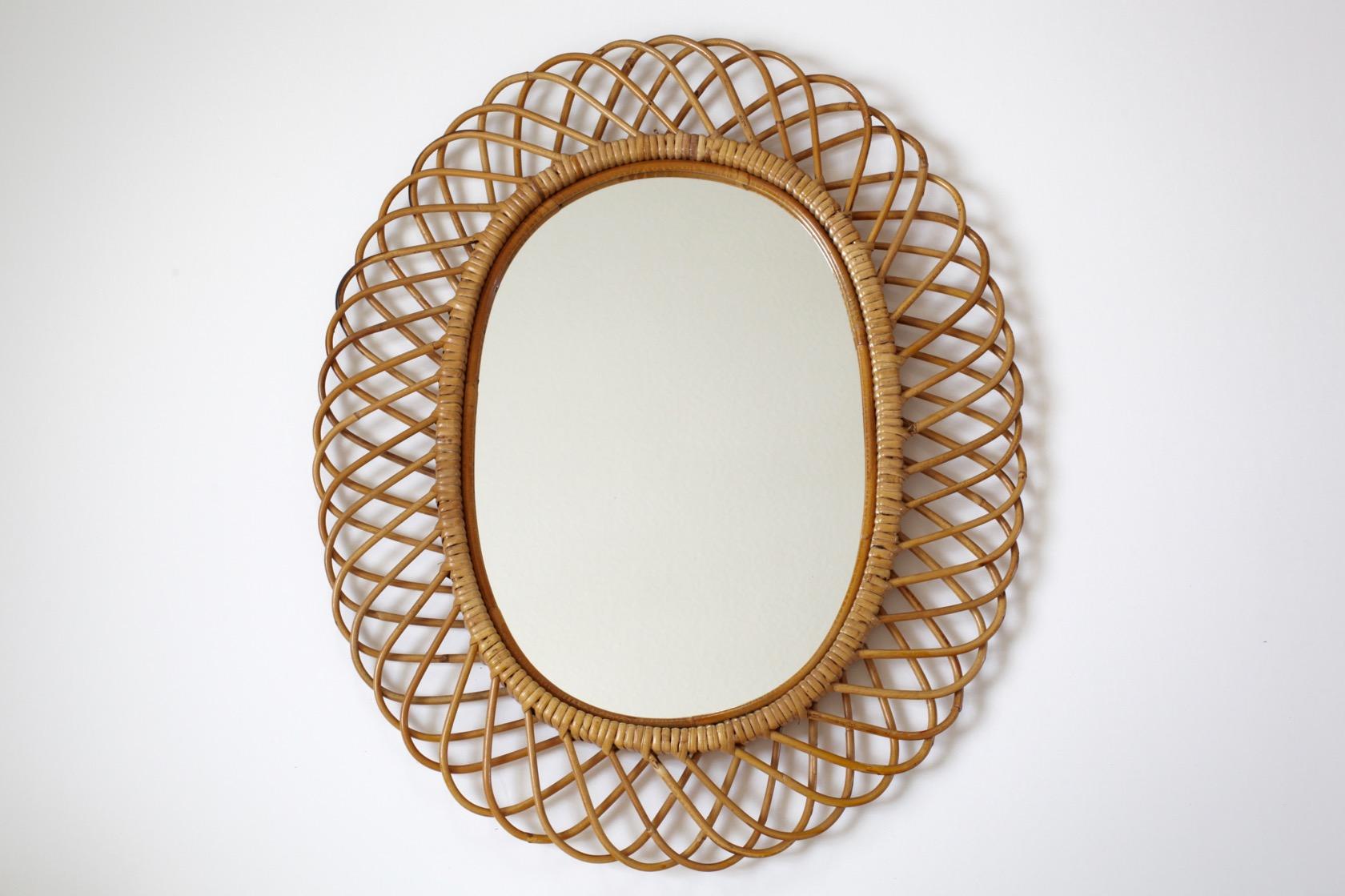 gro er schlaufenspiegel aus bambus raumwunder vintage. Black Bedroom Furniture Sets. Home Design Ideas