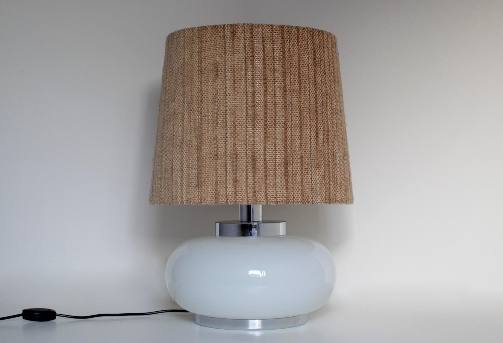 gro e 60ies lampe mit glasfu raumwunder vintage wohnen in n rnberg. Black Bedroom Furniture Sets. Home Design Ideas