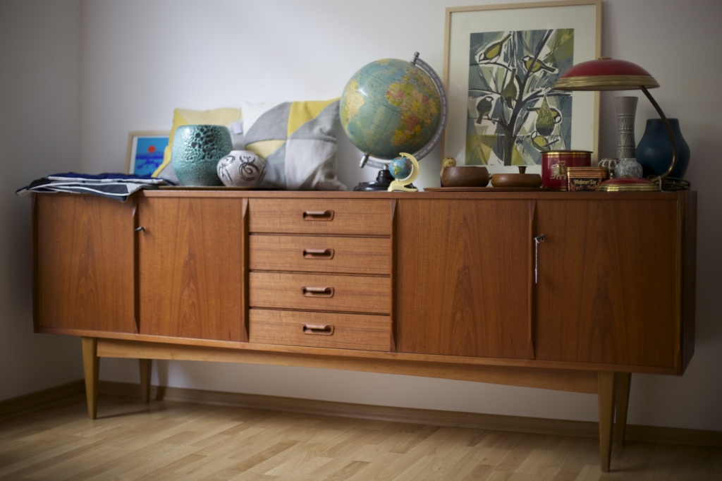 sideaboard teak um 1960 vkw m bel raumwunder vintage wohnen in n rnberg. Black Bedroom Furniture Sets. Home Design Ideas
