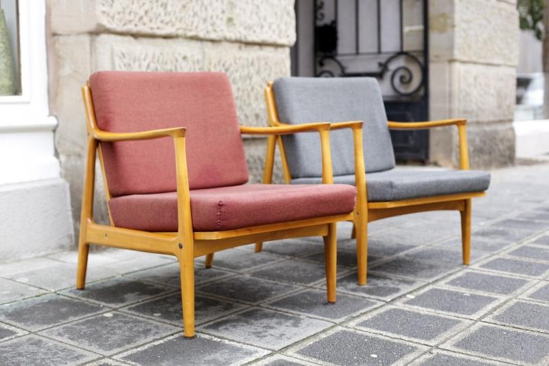 Zwei Easy Chairs Der 50er-Jahre