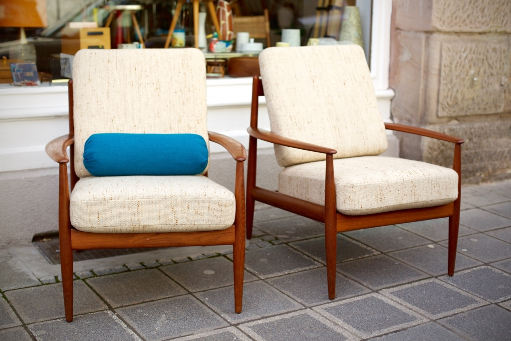 Dänische Designklassiker Zwei Sessel Von Grete Jalk Raumwunder
