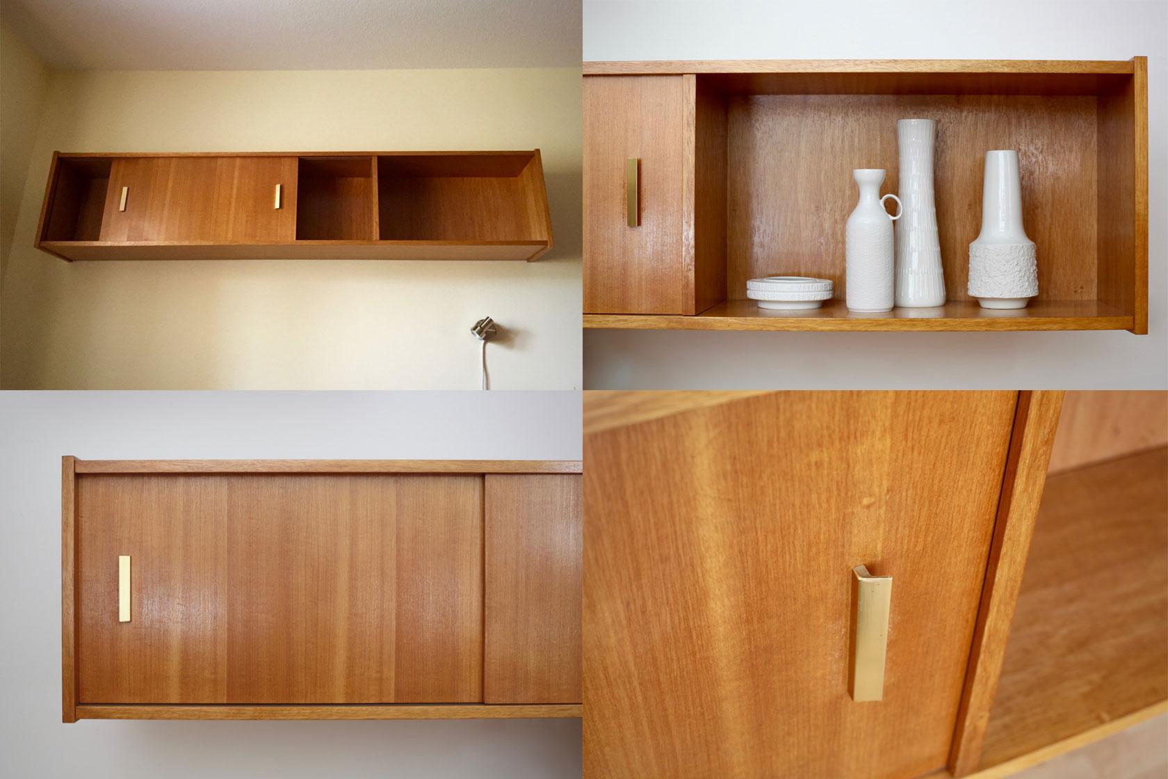 gro es wandregal mit schiebet ren raumwunder vintage. Black Bedroom Furniture Sets. Home Design Ideas