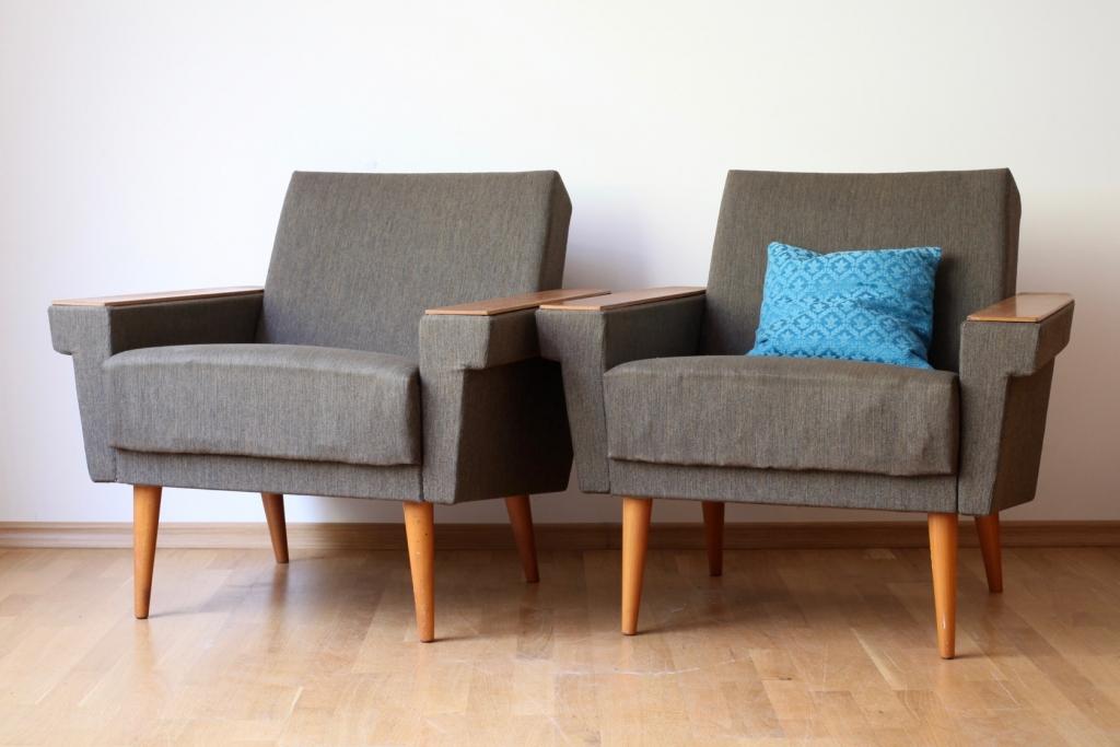 Zwei easy chairs aus den 50er jahren raumwunder for Sessel aus den 50er jahren